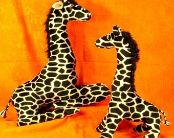 Sewing Patterns Two Giraffes Baby and Mother Stuffed Animal design from Fantasy Creations