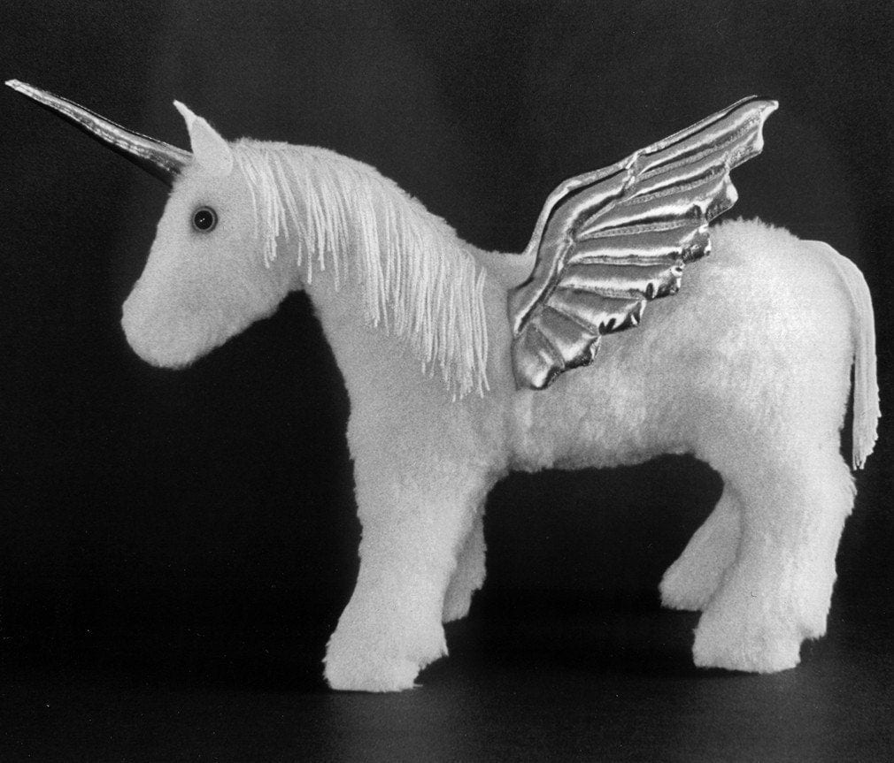sewing pattern make a baby unicorn pegasus or horse design
