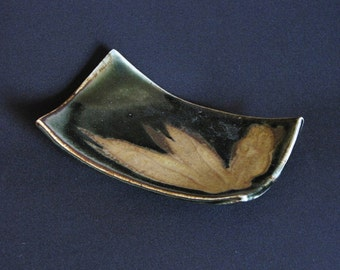 Dark Sage Small Footed Platter
