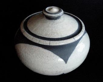 Raku Covered Jar