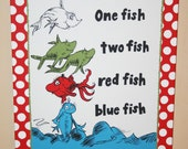 One Fish, Two Fish Inspired LARGE 16x20 Custom Painting