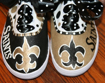 Custom Painted Girl's SPORTS Team Shoes Any Size ANY TEAM