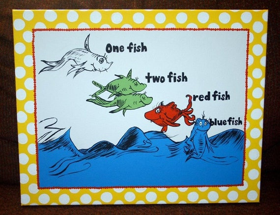 One Fish, Two Fish Inspired Large 16x20 Custom Painting Landscape Orientation