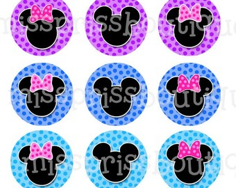 4x6 -  MINNIE MICKEY INSPIRED - Instant Download - One Inch Bottle Cap Digital Graphic Collage Image Sheet  - No.170