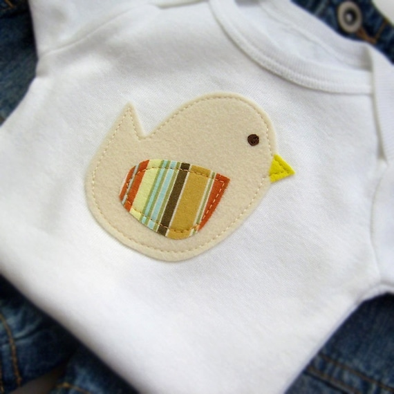 Newborn Baby Boy Clothes // Bodysuit Size 0-3 months // Baby Chick Bodysuit // Baby Clothing