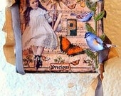 Precious, OOAK Mixed Media Collage on Canvas, ZNE, ECS, CCCOE