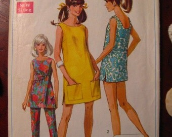 1968 SIMPLICITY Pantsuit and BEACH Coverup Pattern