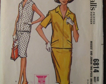 Dippity Do and A 1960s McCALLS PATTERN Too #6814