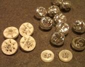Vintage Faux Diamonds Buttons in a Star Burst