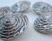 5 Woven Metal Rose Buttons