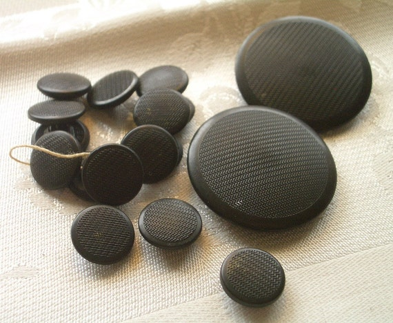 17  ALL Backmarked Antique Goodyear Rubber Buttons