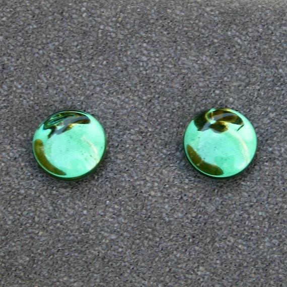 13mm FLASHBACKS Green DF/SF Plugs Emblem Glass