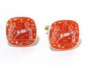 Red Chariot Cuff Links