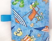 FREE SHIPPING   Beach Scene Reusable Sandwich Snack Bag with Tag - bibsblanketsandmore