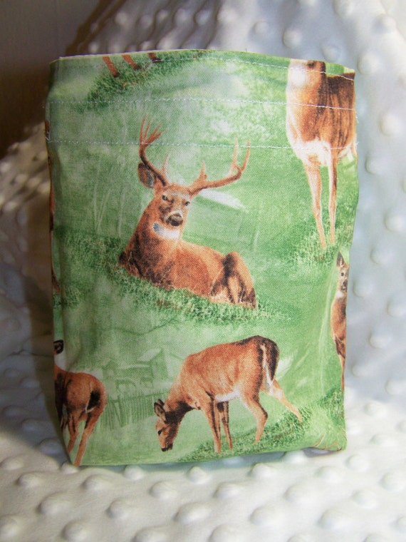 FREE SHIPPING Majestic Deer Reusable Snack Sandwich Bag Eco-Friendly