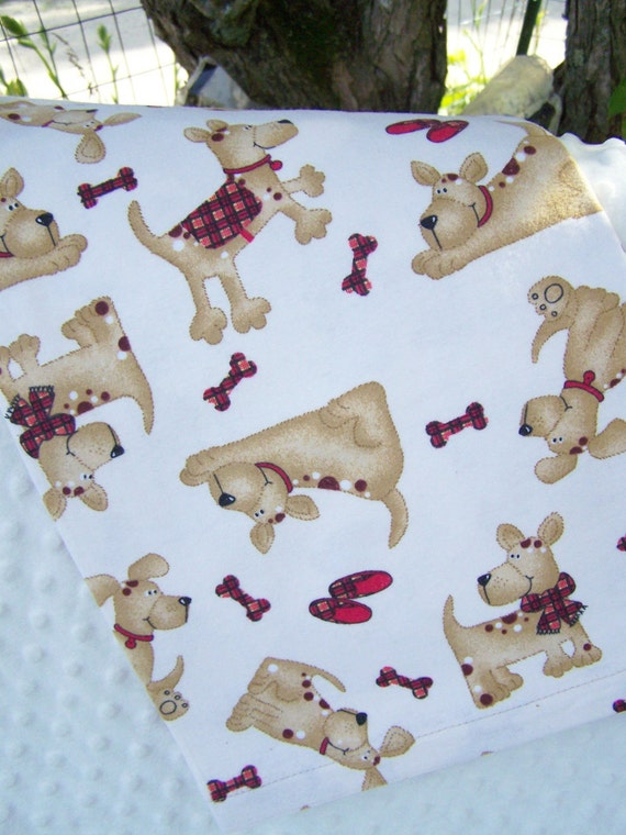 FREE SHIPPING Scottie Dogs Flannel Receiving Blanket for Baby and Toddler