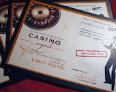 CASINO ROYALE 007 invitations