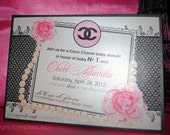 Reserved Listing for (aliciakeyiona2) - designer shower stationery