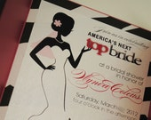 America's Next Top Bride BRIDAL SHOWER invitation