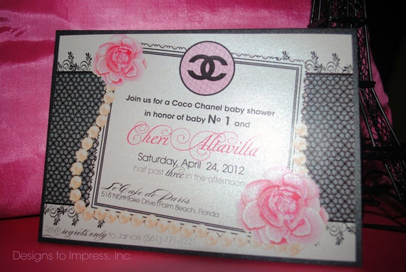 similar to set of 10 coco chanel shower party invitations wedding baby