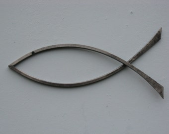 Hand forged Ichthus/Fish by pa blacksmith