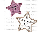 INSTANT Download - Starfish digital machine embroidery applique and fill 4 sizes