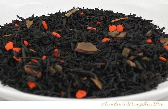 FALL NEW ARRIVAL -  Auntie's Pumpkin Pie -- Loose Leaf Specialty Black Tea - 2 oz. bag