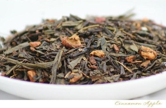 TEA - SUMMER SALE - Cinnamon Apple -- (Green Tea) -- 2oz bag