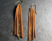 Tribal Jewelry : Suede Fringe Earrings