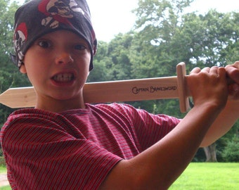 Wooden Toy Sword - FREE Personalization