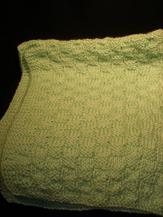 Knitting Pattern Crib Blanket : Handmade Knit Baby Crib Blanket Afghan Lap by moonstruckcreations