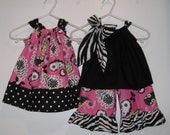 Take Two Matching Pillowcase Dress and Pillowcase Top and Capri Gift Set for Twins