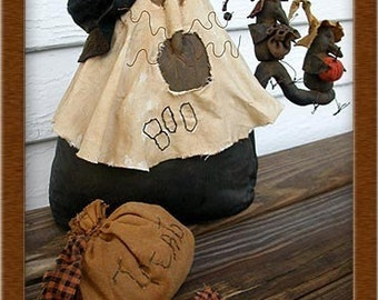 Mulrooney and the Trick or Treat Gang Primitive Cat Pattern