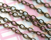 10 feet antique bronze finish cable chain 2.5x2mm CH38
