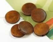 10pcs brown round wooden bead 25mm W103