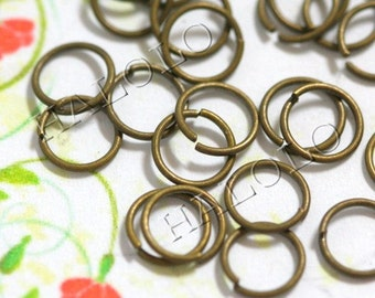 200 pcs of antique brass finish jump rings 6mm (0703)
