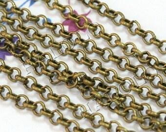 10 feet antique bronze finish rollo chain 2mm CH26