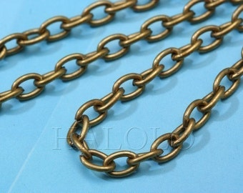 10 feet antique bronze finish cable chain 5mm CH85