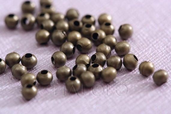300pcs small antique bronze beads 2.5mm G051