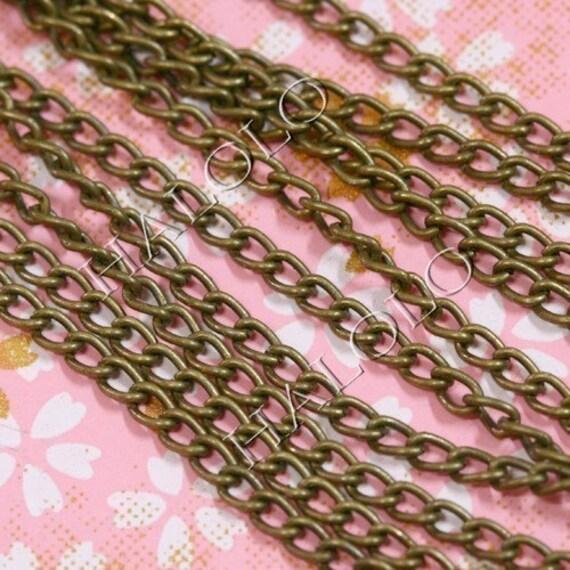 15 feet antique bronze finish twist chain 3 x 2mm CH17 L