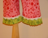 Classic Ruffled Pants with Lace Edging-sizes-3,6,9,12,18mo,1T,2T,3T,4T