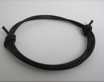 Slim Leather Slider Wrap Bracelet Cuff
