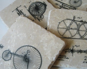 Bicycle Coasters - vintage bike coaster set