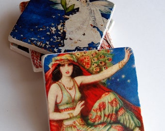 Drink Coaster Set - Vintage Magazine Covers