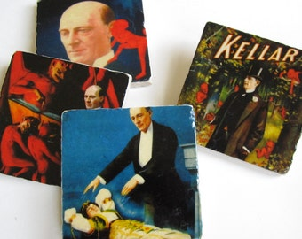 Kellar the Magician - stone coaster set