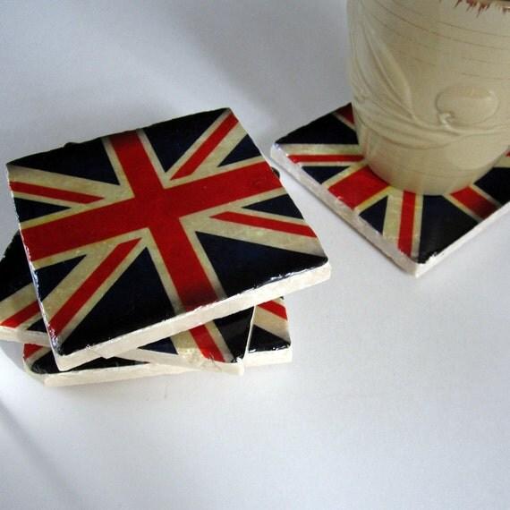Union Jack England Flag coasters (set of 4)