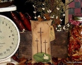 Primitive Easter Cross Ornie