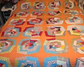 Sale - Spider Web Vintage Quilt