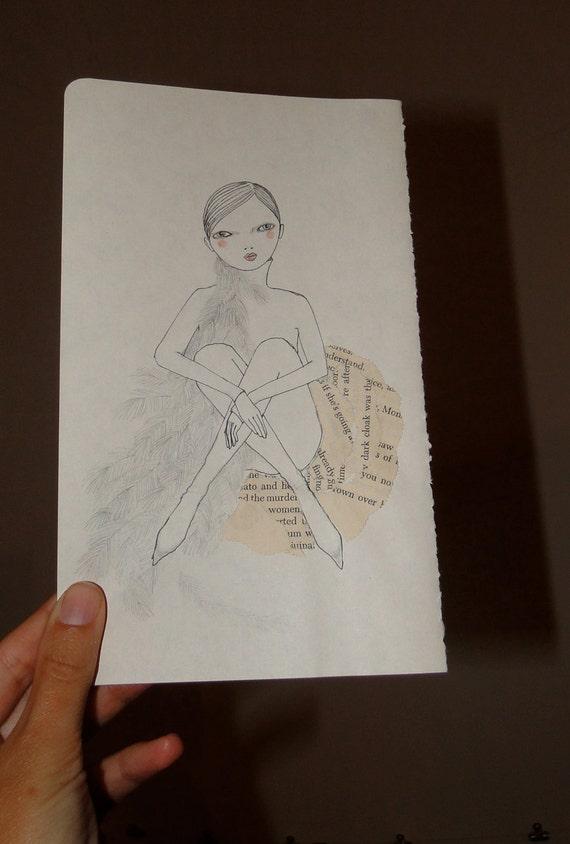 Girl Respite  original drawing
