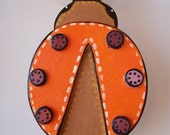 Orange Ladybug, Wall Art, Wood